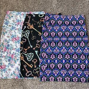 3-1 LulaRoe Cassie pack-Pretty in Pastels fabrics
